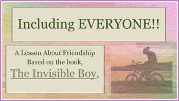 Invisible Boy Diversity Tolerance Inclusion Exclusion MLK PBIS w 11 video links