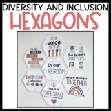Diversity and Inclusion Hexagons Classroom Display
