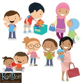 FREE Diversity and Multicultural Clip Art Set 2