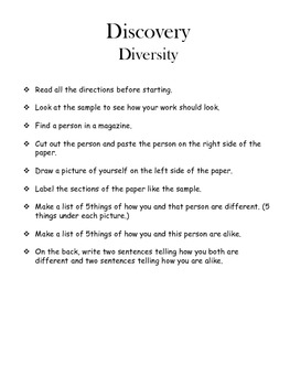 Diversity - comparing and contrasting