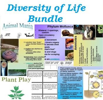 Diversity of Life: Plant and Animal Bundle