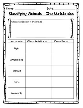 Diversity of Living Things - Vertebrate Research