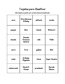 Having Fun with Nouns (Spanish version)