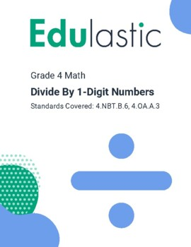 Divide By 1-Digit Numbers