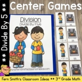 3rd Grade Go Math 7.3 Divide By Five Center Games and Printables