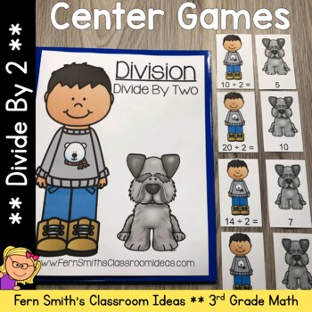 3rd Grade Go Math 7.1 Divide By Two Center Games and Printables