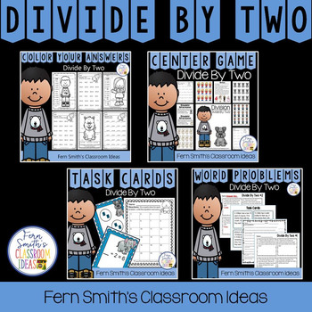 3rd Grade Go Math Divide By 2 Task Cards Centers Color By Number & Word Problems