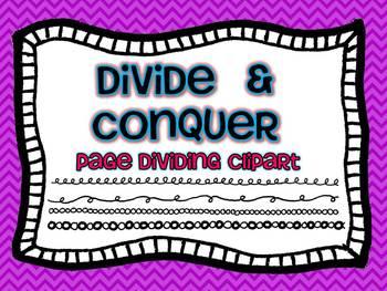 Divide & Conquer Doodles {Dividers & Edges Clip Art}