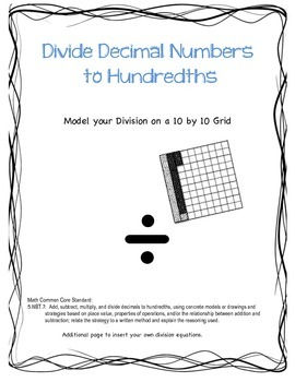 Divide Decimal Numbers with Models