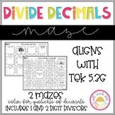 Divide Decimals Maze 5.3G