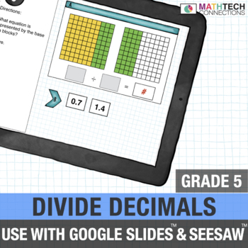 Divide Decimals - 5th Grade Digital Resource for use with Google Classroom™