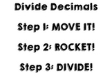 Divide Decimals Anchor Chart