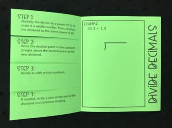 Divide Decimals (Foldable)