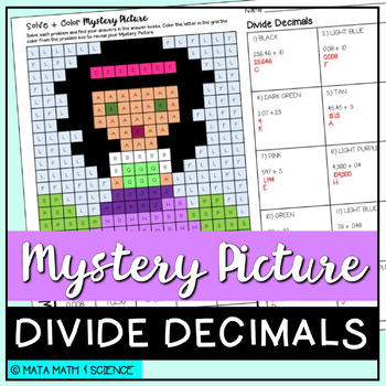 Divide Decimals: Mystery Picture (Princess)
