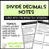 Divide Decimals Notes