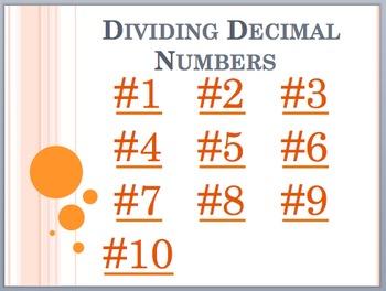 Divide Decimals - Partner Activity
