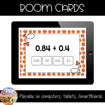 Divide Decimals by Decimals - Boom Cards