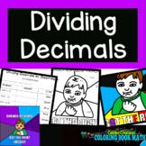 Divide Decimals by Decimals Coloring Book Math
