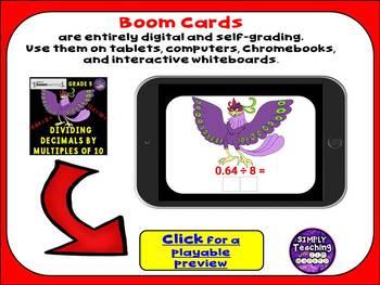 Divide Decimals by Multiples of 10 Digital Boom Cards Eukeka grade 5 Module 2