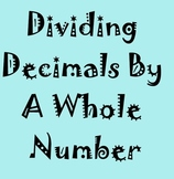 Divide Decimals by Whole Numbers