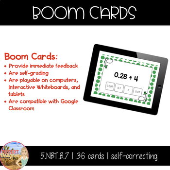 Divide Decimals by Whole Numbers - Boom Cards