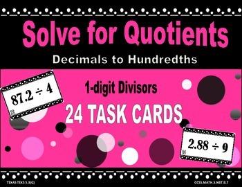 Divide Decimals with 1-Digit Divisors