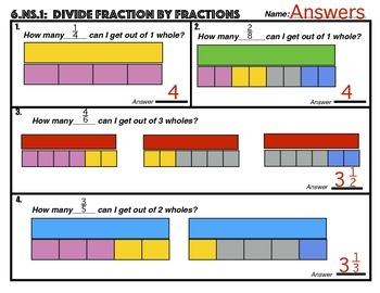 Divide Fractions By Fractions Using Models