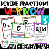 Divide Fractions Game: U-Know | Division of Fractions Revi