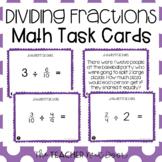 5th Grade Divide Fractions Task Cards | Divide Fractions Center