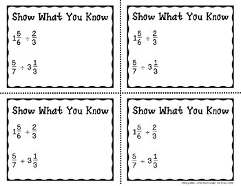 Dividing Fractions and Mixed Numbers Don't Get ZAPPED Math Game