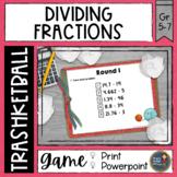 Dividing Fractions Trashketball Math Game