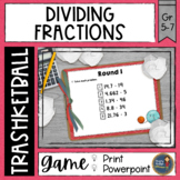 Dividing Fractions Trashketball Math Game