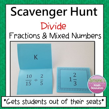 Divide Fractions and Mixed Numbers Scavenger Hunt