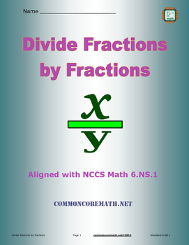 Divide Fractions by Fractions - 6.NS.1