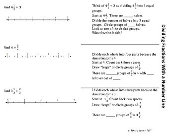 Divide Fractions with a Number Line