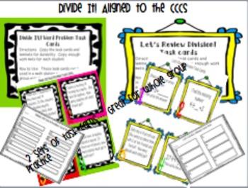 Divide It! Division Unit aligned to the CCCS  * BUNDLE* includes lap book