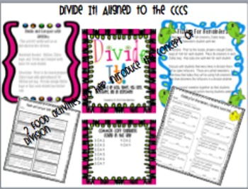 Divide It! Division Unit aligned to the CCCS  * BUNDLE* in