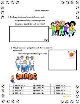 Divide Mentally - Divide - Division - Mental math