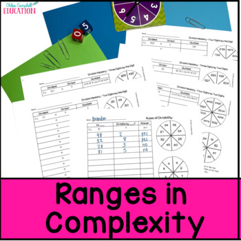 Divide Multi-Digit Numbers, Division Activity, Divisibility Rules DIFFERENTIATED