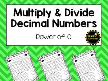 Divide & Multiply Decimals - Power of 10s