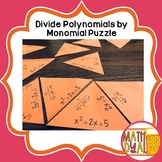 Divide Polynomial By Monomial Puzzle