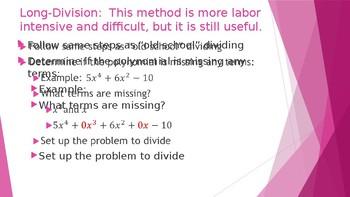Divide Polynomials