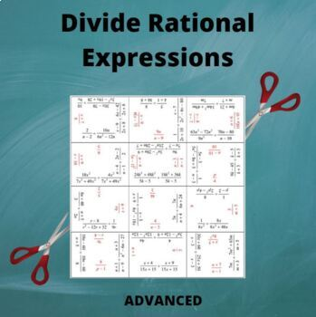 Divide Rational Expressions Puzzle (Advanced)