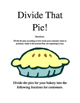 Divide That Pie!