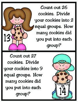Divide Those Cookies! 3rd Grade Division TEKS 3.4H