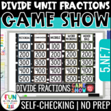 Divide Unit Fractions Game 5th Grade | Review Game | Dista