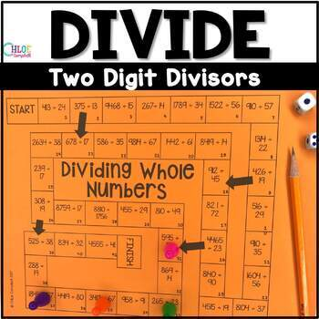 Divide Whole Numbers Board Game