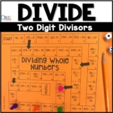 Divide Whole Numbers 2 Digit Divisors Board Game