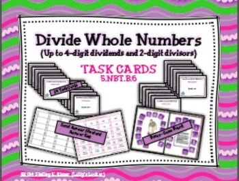 Divide Whole Numbers Task Cards