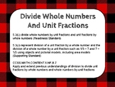Divide Whole Numbers and Unit Fractions TEK 5.3J and 5.3L